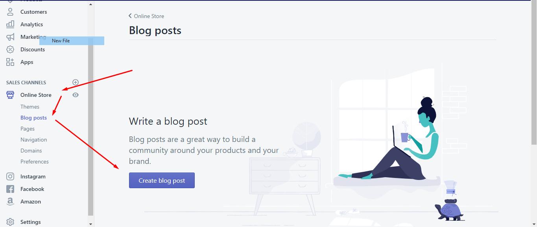 Crear un blog con shopify